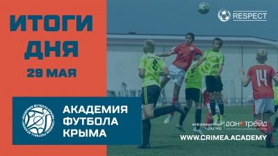Итоги футбольного дня 29мая вДЮФЛК
