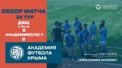 Обзор матча | ДЮЦ (г.Ялта) – АФК (U13)-1 | ДЮФЛК (2008 г.р.) 20/21 | 24тур
